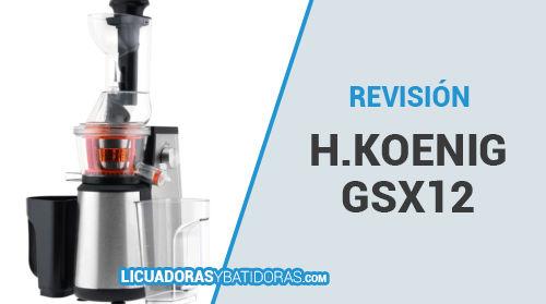 Licuadora Prensado en Frío H.Koenig GSX12
