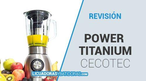 Batidora Americana de Vaso Power Titanium 1250W Cecotec