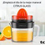 Exprimidor Taurus Citrus Glass rotación de Doble Sentido.